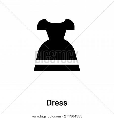 Dress Icon In Trendy Design Style. Dress Icon Isolated On White Background. Dress Vector Icon Simple