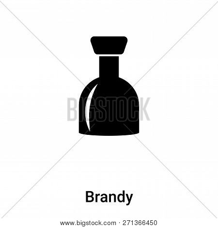 Brandy Icon In Trendy Design Style. Brandy Icon Isolated On White Background. Brandy Vector Icon Sim