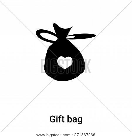 Gift Bag Icon In Trendy Design Style. Gift Bag Icon Isolated On White Background. Gift Bag Vector Ic