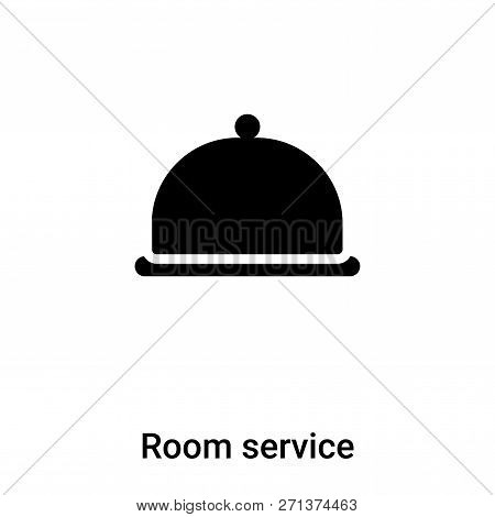 Room Service Icon In Trendy Design Style. Room Service Icon Isolated On White Background. Room Servi