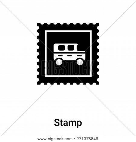 Stamp Icon In Trendy Design Style. Stamp Icon Isolated On White Background. Stamp Vector Icon Simple