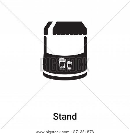 Stand Icon In Trendy Design Style. Stand Icon Isolated On White Background. Stand Vector Icon Simple