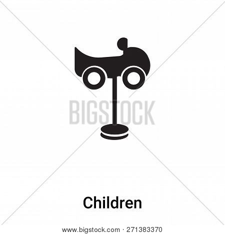 Children Icon In Trendy Design Style. Children Icon Isolated On White Background. Children Vector Ic
