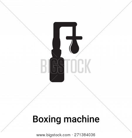 Boxing Machine Icon In Trendy Design Style. Boxing Machine Icon Isolated On White Background. Boxing