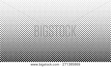 Halftone Vector Background. Monochrome Halftone Pattern. Abstract Geometric Dots Background. Pop Art