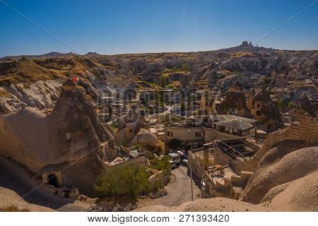 Goreme, Turkey: Panoramic View Of Modern Residential District In Goreme Town. Goreme Is Town In Capp