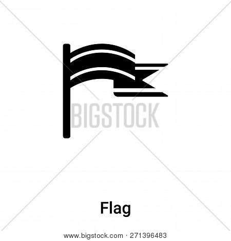 Flag Icon In Trendy Design Style. Flag Icon Isolated On White Background. Flag Vector Icon Simple An