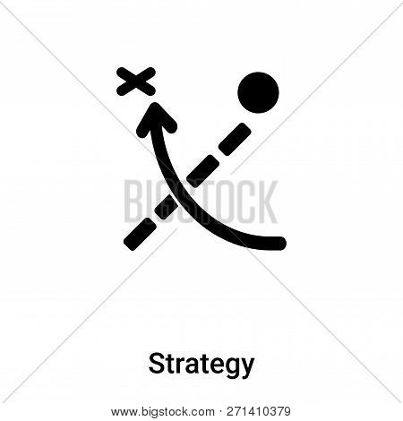 Strategy Icon In Trendy Design Style. Strategy Icon Isolated On White Background. Strategy Vector Ic