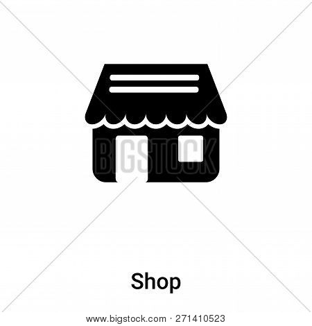 Shop Icon In Trendy Design Style. Shop Icon Isolated On White Background. Shop Vector Icon Simple An