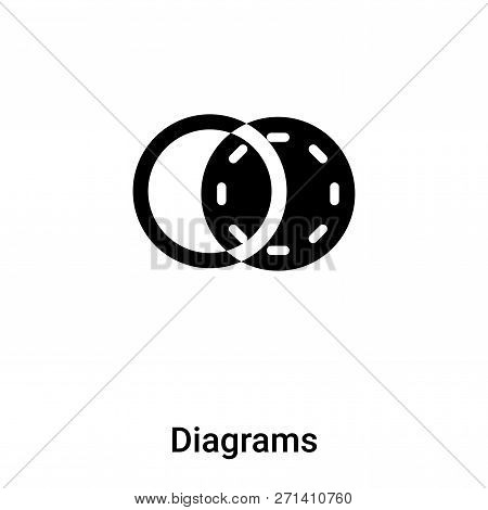 Diagrams Icon In Trendy Design Style. Diagrams Icon Isolated On White Background. Diagrams Vector Ic