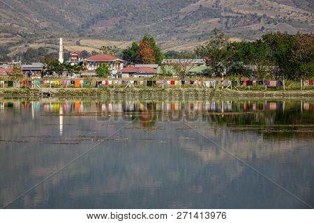 Landscape Of Inle Lake, Myanmar