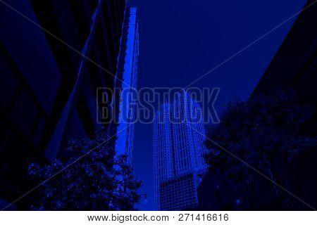 Close up image of office buildings exterior in Atlanta, GA