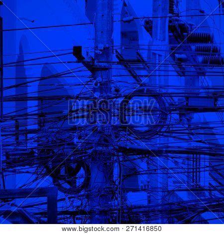 an image of a metal tower of Power Lines