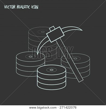 Data Mining Icon Line Element. Vector Illustration Of Data Mining Icon Line Isolated On Clean Backgr