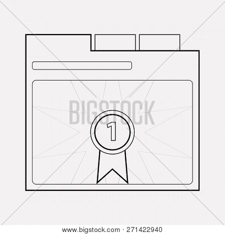 Page Rank Badge Icon Line Element. Vector Illustration Of Page Rank Badge Icon Line Isolated On Clea