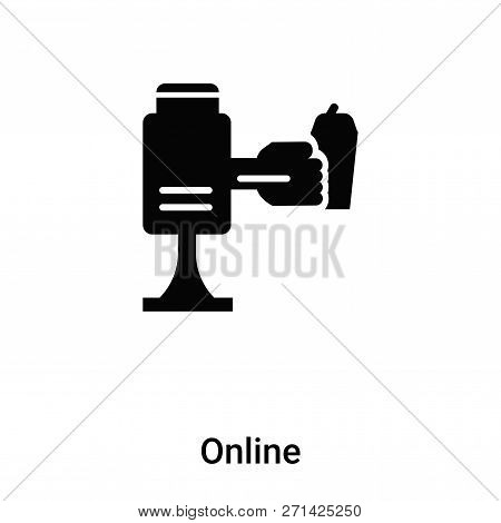 Online Icon In Trendy Design Style. Online Icon Isolated On White Background. Online Vector Icon Sim