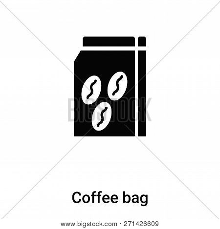 Coffee Bag Icon In Trendy Design Style. Coffee Bag Icon Isolated On White Background. Coffee Bag Vec
