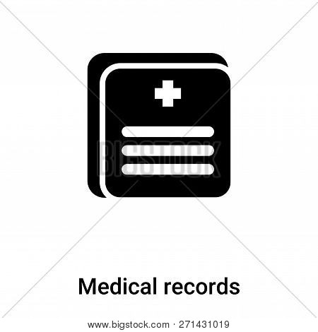 Medical Records Icon In Trendy Design Style. Medical Records Icon Isolated On White Background. Medi