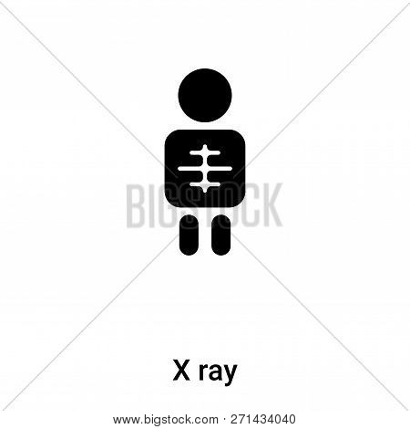 X Ray Icon In Trendy Design Style. X Ray Icon Isolated On White Background. X Ray Vector Icon Simple