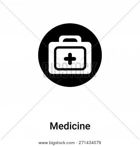 Medicine Icon In Trendy Design Style. Medicine Icon Isolated On White Background. Medicine Vector Ic