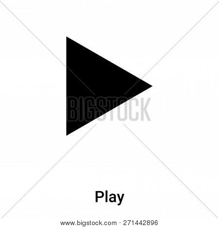 Play Icon In Trendy Design Style. Play Icon Isolated On White Background. Play Vector Icon Simple An