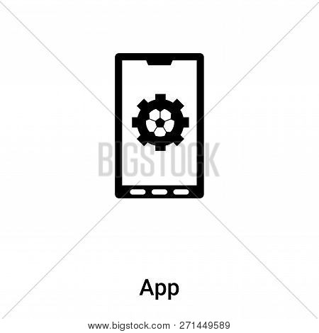 App Icon In Trendy Design Style. App Icon Isolated On White Background. App Vector Icon Simple And M