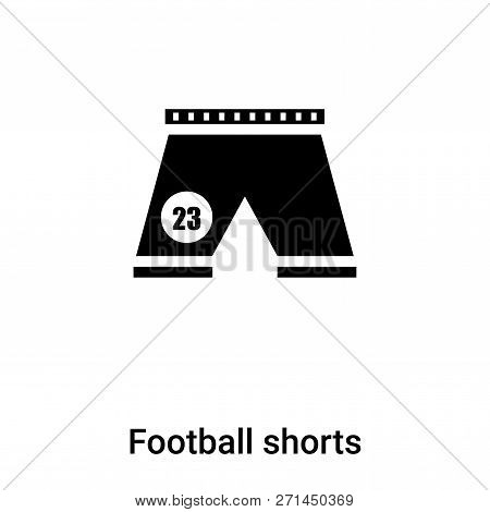 Football Shorts Icon In Trendy Design Style. Football Shorts Icon Isolated On White Background. Foot