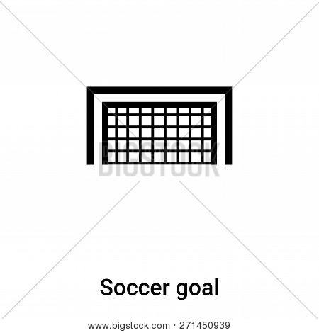 Soccer Goal Icon In Trendy Design Style. Soccer Goal Icon Isolated On White Background. Soccer Goal