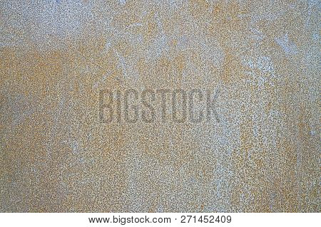 Metal Texture With Scratches And Cracks. Weathered Steel Textur. Close-up Rusty Metal Sheet Backgrou