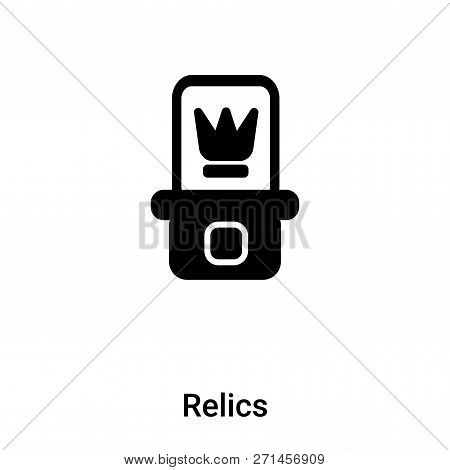 Relics Icon In Trendy Design Style. Relics Icon Isolated On White Background. Relics Vector Icon Sim