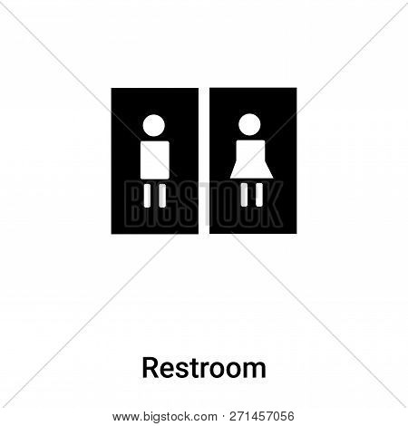 Restroom Icon In Trendy Design Style. Restroom Icon Isolated On White Background. Restroom Vector Ic