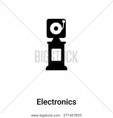 Electronics Icon In Trendy Design Style. Electronics Icon Isolated On White Background. Electronics