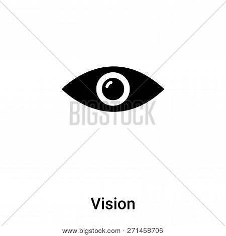 Vision Icon In Trendy Design Style. Vision Icon Isolated On White Background. Vision Vector Icon Sim