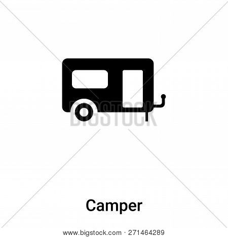 Camper Icon In Trendy Design Style. Camper Icon Isolated On White Background. Camper Vector Icon Sim