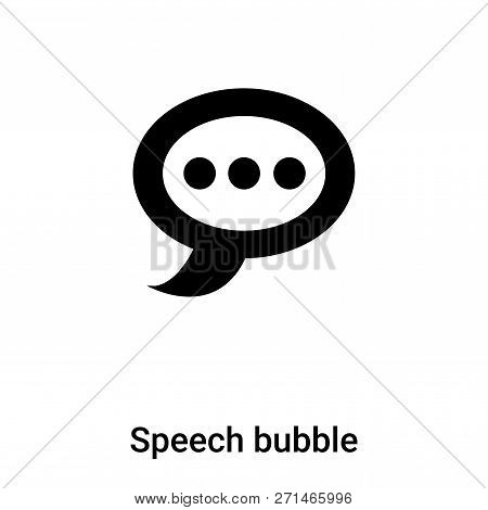 Speech Bubble Icon In Trendy Design Style. Speech Bubble Icon Isolated On White Background. Speech B