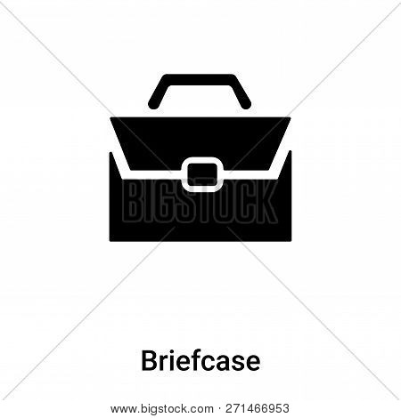 Briefcase Icon In Trendy Design Style. Briefcase Icon Isolated On White Background. Briefcase Vector
