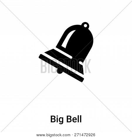 Big Bell Icon In Trendy Design Style. Big Bell Icon Isolated On White Background. Big Bell Vector Ic