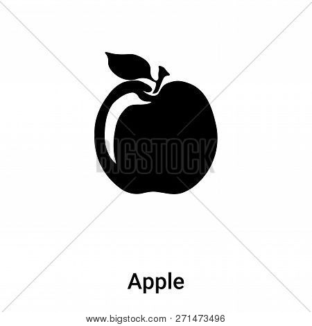Apple Icon In Trendy Design Style. Apple Icon Isolated On White Background. Apple Vector Icon Simple