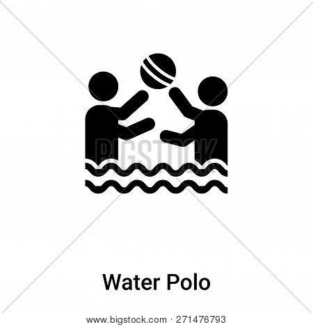 Water Polo Icon In Trendy Design Style. Water Polo Icon Isolated On White Background. Water Polo Vec