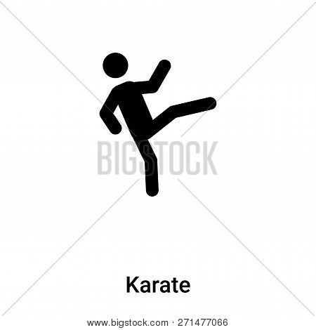 Karate Icon In Trendy Design Style. Karate Icon Isolated On White Background. Karate Vector Icon Sim