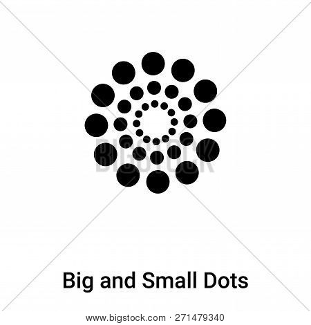 Big And Small Dots Icon In Trendy Design Style. Big And Small Dots Icon Isolated On White Background