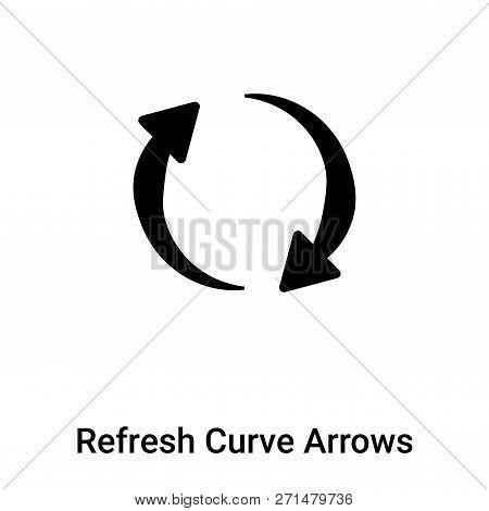 Refresh Curve Arrows Icon In Trendy Design Style. Refresh Curve Arrows Icon Isolated On White Backgr