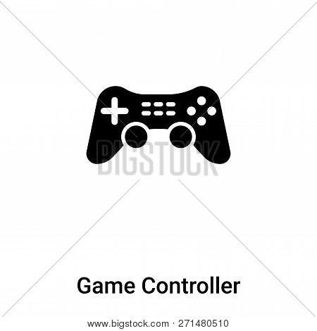 Game Controller Cross Icon In Trendy Design Style. Game Controller Cross Icon Isolated On White Back
