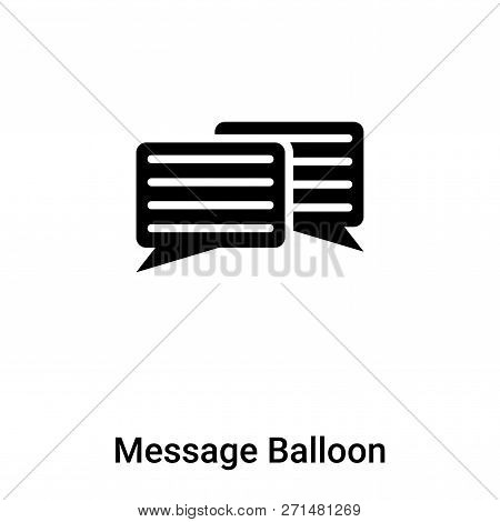 Message Balloon Icon In Trendy Design Style. Message Balloon Icon Isolated On White Background. Mess