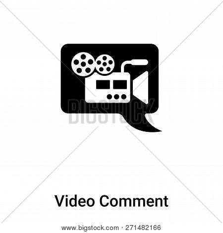 Video Comment Icon In Trendy Design Style. Video Comment Icon Isolated On White Background. Video Co