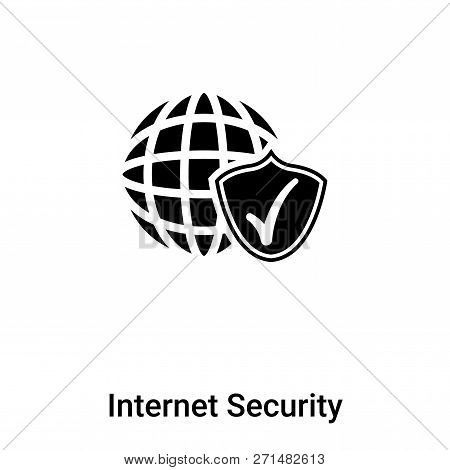 Internet Security Icon In Trendy Design Style. Internet Security Icon Isolated On White Background.