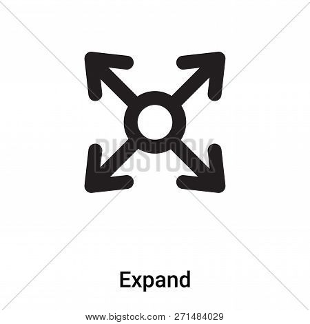 Expand Icon In Trendy Design Style. Expand Icon Isolated On White Background. Expand Vector Icon Sim