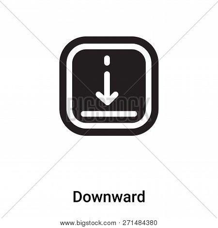 Downward Icon In Trendy Design Style. Downward Icon Isolated On White Background. Downward Vector Ic