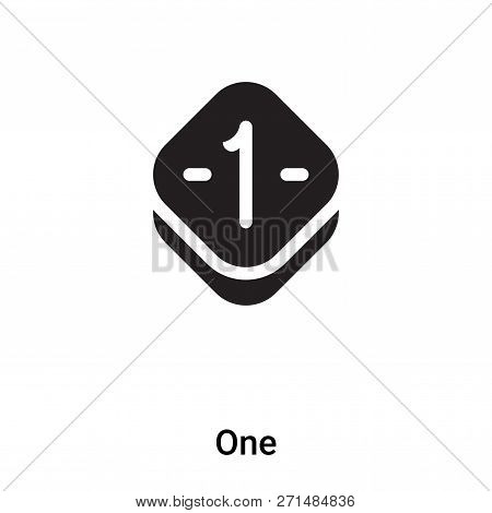 One Icon In Trendy Design Style. One Icon Isolated On White Background. One Vector Icon Simple And M
