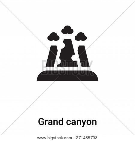 Grand Canyon Icon In Trendy Design Style. Grand Canyon Icon Isolated On White Background. Grand Cany
